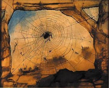 La ruine de Vianden à travers une toile d'araignée, 13 août 1871.