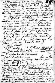 Victor Hugo, extrait de son carnet pour les 18-19.09.1865.