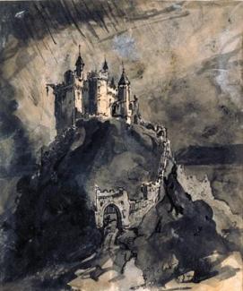Château fort sur une colline, 1847