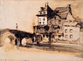 Vianden. La maison que j'habite au coin du pont, 28 juillet 1871